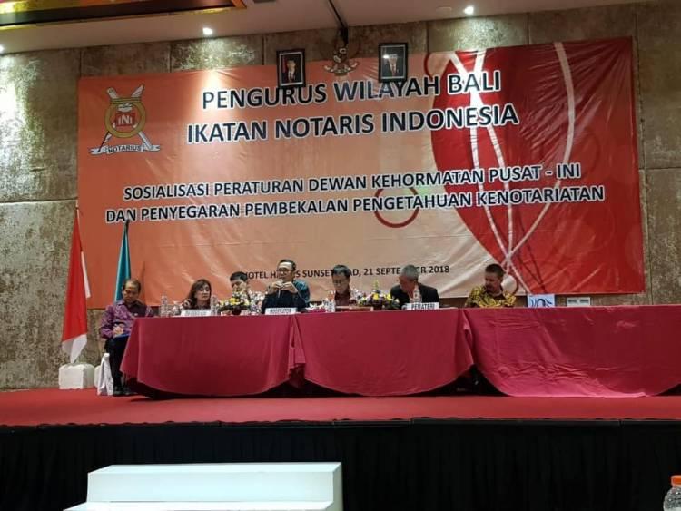Sosialisasi Peraturan Dewan Kehormatan Pusat - INI Dan Penyegaran Pembekalan Pengetahuan Kenotariatan